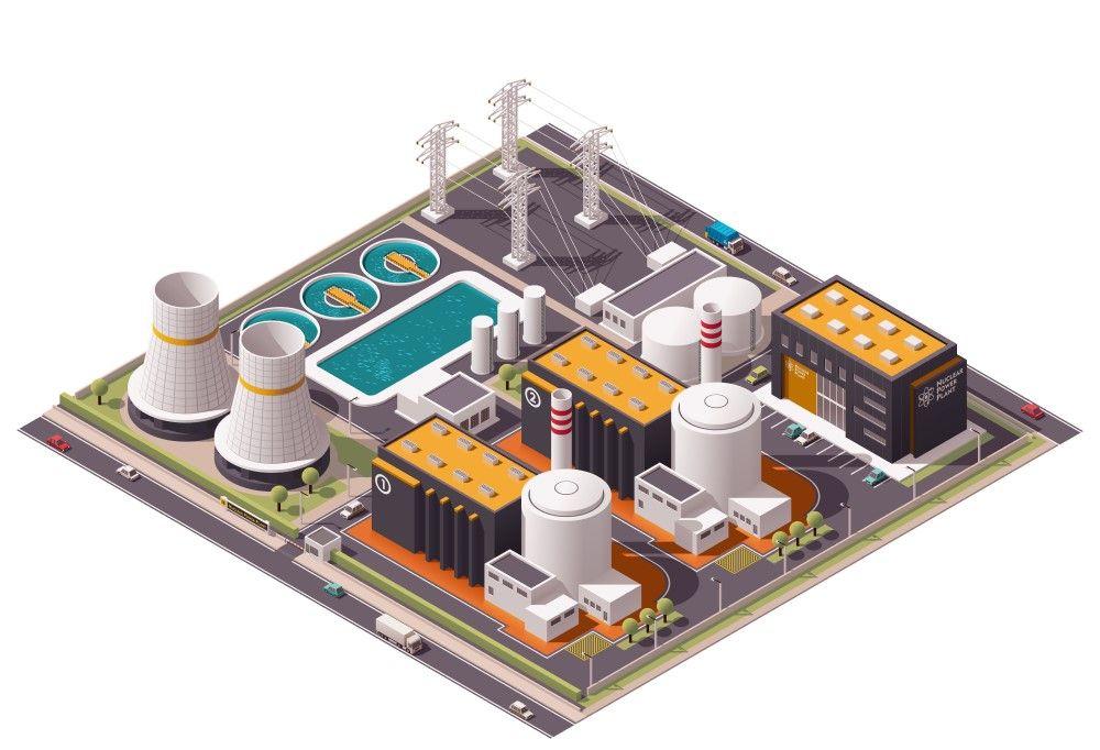 jak funguje jaderná elektrárna nákres