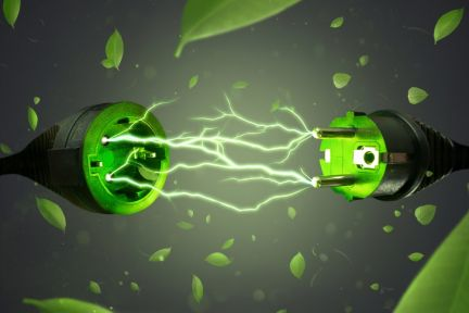 Zásuvka se zelenou elektřinou